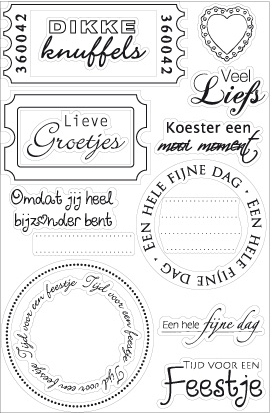Cs0847 Clear Stamp Teksten Clear Stamps Stempels
