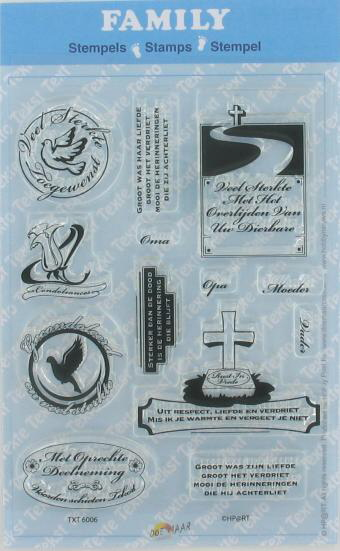 6006 Condoleance - Family tekst stempels - Clear stamps