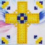 Dds.003 Diamond Dotz Golden cross