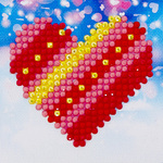 Dds.007 Diamond Dotz Patchwork heart