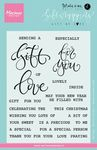 Kj1718 Clearstamp Giftwrapping Gift love