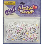 Alfabet beads 7mm wit color