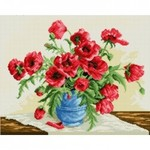 Az-1028 Diamond painting red poppies