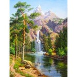 Az-1347 Diamond painting Waterval