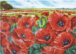 Dd10.013 Diamond Dotz Red poppy field