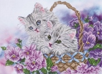 Dd10.014 Diamond Dotz Kitty basket