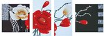 Dd14.002 Diamond Dotz Art deco Poppies