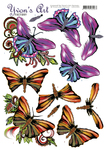 Cd11303  Knipvel Yvonne Art Butterflys