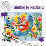 Painting by Numbers - Parrots