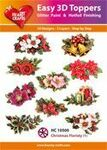 Easy 3d Toppers christmas floristy