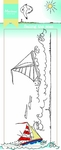 Ht1623 Clear stamp Hetty's border - Sail