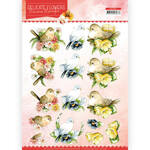 Cd11491 Knipvel - Delicate Flowers Birds